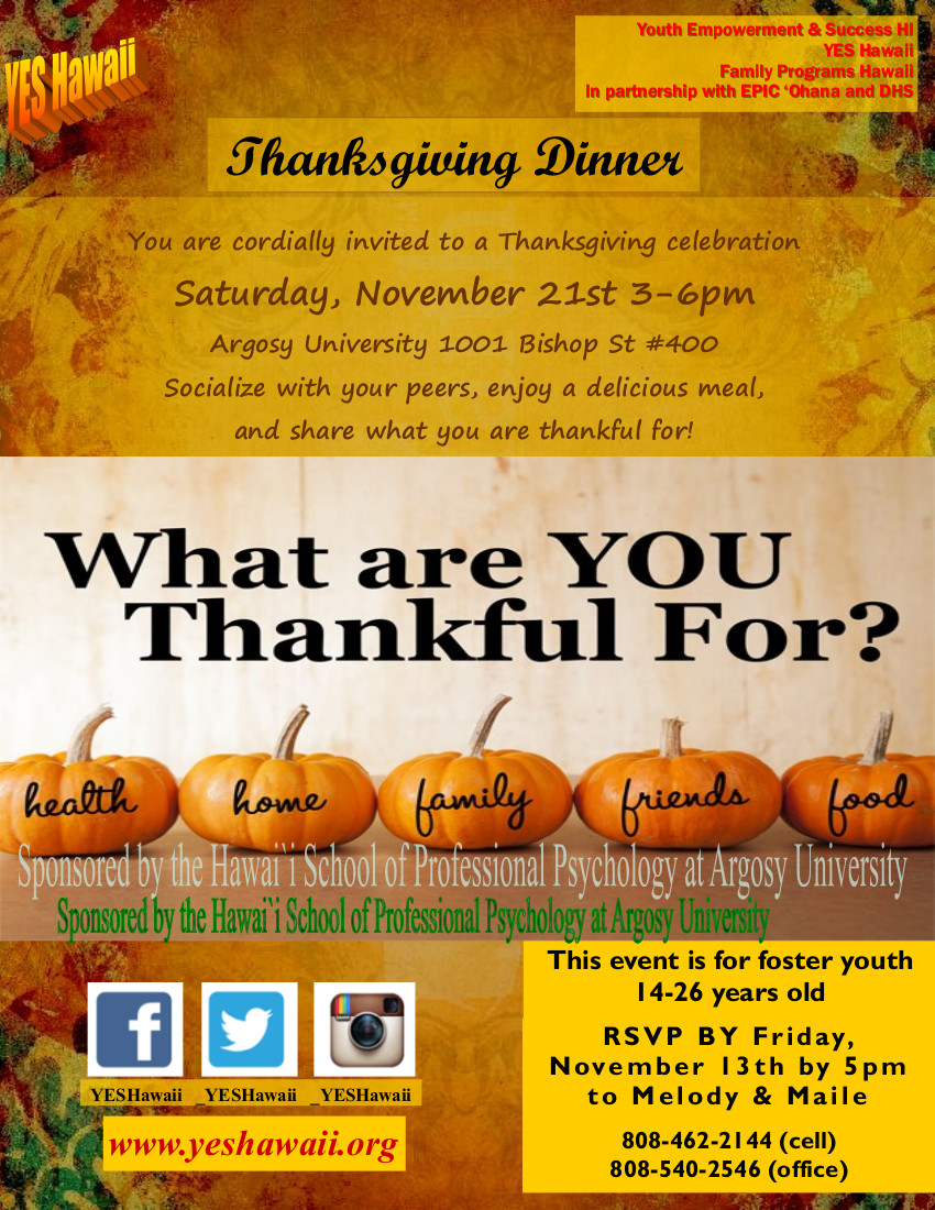 Thanksgiving Dinner Flier