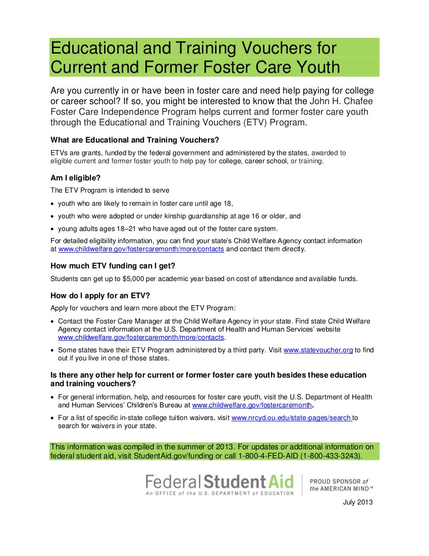 Foster Youth Vouchers